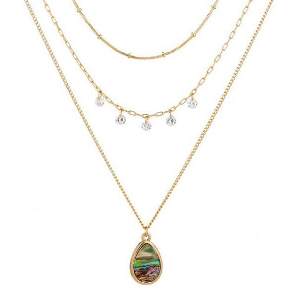 Collier baroque perles cœur gold