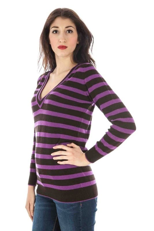 Pull Fred Perry maille violet taille S